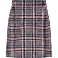 Hallhuber A-Line Skirt With Glen Check Patterning, Multi-Coloured