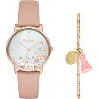 Mon Amie Health Nude Leather Watch, Nude