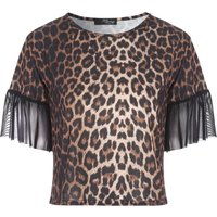 Jane Norman Mesh Sleeve Top, Multi-Coloured