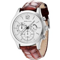 police gents ohio  brown strap watch, brown