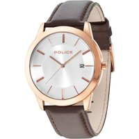 police gents sonoran brown strap watch, brown