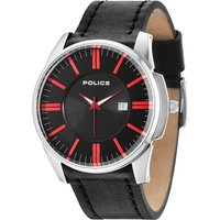 police gents governer strap watch, black