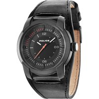 police gents apollo cuff strap watch, black