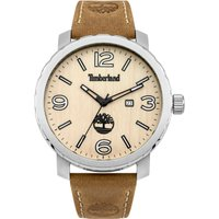timberland gents pinkerton tan  strap watch, tan