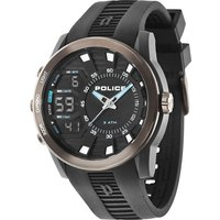 police gents tactical black strap watch, black