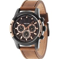 police gents camel leather strap watch, camel