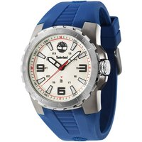 timberland gents ballrad blue  strap watch, blue