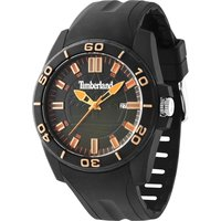 timberland gents dunbarton black strap watch, black