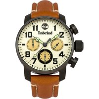 timberland gents  brown leather strap watch, dark brown