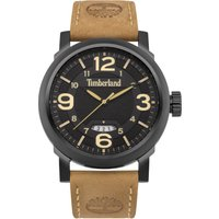 timberland gents brown leather strap watch, brown
