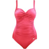 SUNSEEKER solid rouge cup sized classic swimsuit, Red