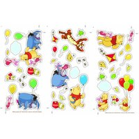 Graham & Brown Winnie the Pooh Small Wall Sticker, Brown - Art Gifts