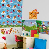 Graham & Brown Moshi Monsters 3D Printed Canvas, Brown
