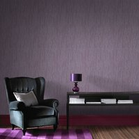 Graham & Brown Purple Crushed Silk Wallpaper, Brown
