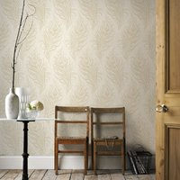 Graham & Brown Oyster Quill Wallpaper, Brown