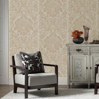 Graham & Brown Oyster Gloriana Wallpaper, Brown