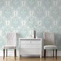 Graham & Brown Duck Egg Melody Wallpaper, Brown