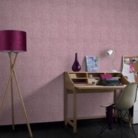 Graham & Brown Matrix Purple Textured Plain Wallpaper, Brown