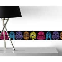 Graham & Brown Star Wars Neon Head Wall Border, Brown - Star Wars Gifts