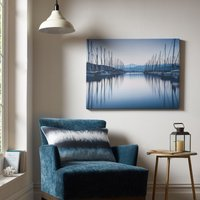 Graham & Brown Blue Harbour Reflections Wall Art, Brown