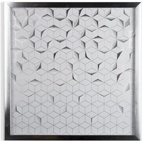 Graham & Brown Silver Origami Framed Wall Art, Silver