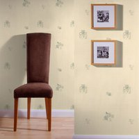 Graham & Brown Green Camille Floral Motif Wallpaper, Brown