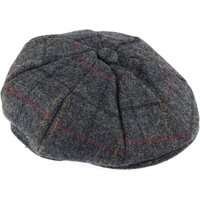 Dents Mens Eight Piece Cap In Abraham Moon Tweed, Charcoal