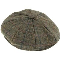 Dents Mens Eight Piece Cap In Abraham Moon Tweed, Olive