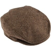 Dents Mens Tweed Cap Abraham Moon Tweed, Chocolate