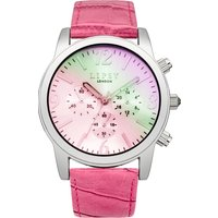 lipsy ladies pink strap watch, pink