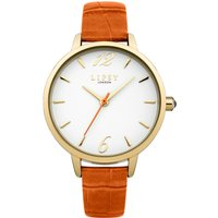 lipsy ladies orange strap watch, orange
