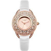lipsy ladies white  strap watch, white