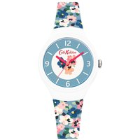 cath kidston painted pansies watch, blue