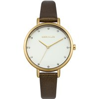karen millen ladies strap watch, brown