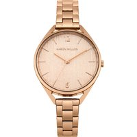 karen millen ladies bracelet watch, rose gold