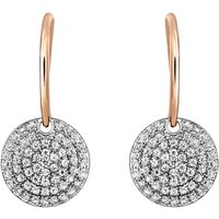 Buckley London Metropolitan Earrings, Rose Gold