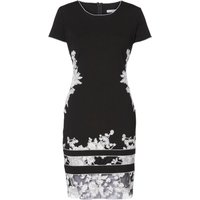 Gina Bacconi Joyce Floral Embroidered Dress, Black