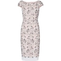 Gina Bacconi Leila Embroidered Dress, White