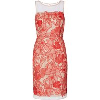 Gina Bacconi Ashley Embroidered Mesh Dress, Red