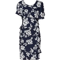Gina Bacconi Esme Floral Tiered Dress, Blue
