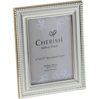 Arthur Price Silver plated Bead photograph frame 3.5x5, Silver