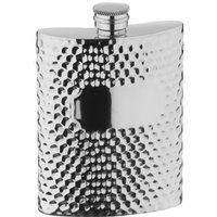 Arthur Price Hammered style pewter 6 oz hip flask, Red - Kitchen Gifts