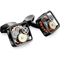 Tateossian Gear Cufflinks, Black