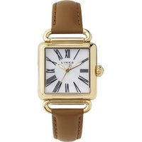 links of london driver white mother of pearl watch, gold
