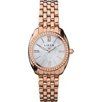 links of london bloomsbury rose gold and crystal watch, rose gold