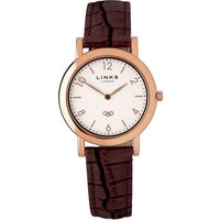 links of london noble slim brown leather watch, brown