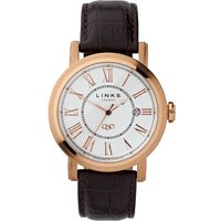 links of london richmond white dial watch, rose gold