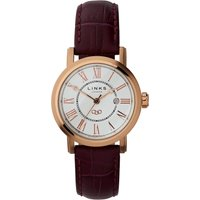 links of london richmond rose gold watch with white dial, n/a