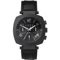 links of london brompton black dial chronograph watch, black