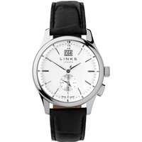 links of london regent silver dial black strap watch, n/a